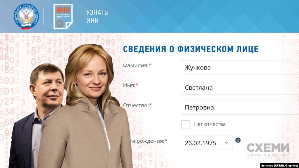 Российская налоговая изменила данные жены Тараса Козака, который попал под украинские санкции - «Схемы»