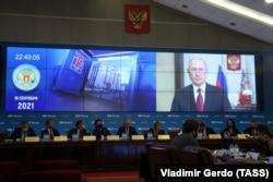 سخنرانی تلویزیونی پوتین خطاب به رأیدهندگان در شامگاه ۱۶ سپتامبر