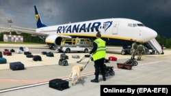 Минскка қўндирилган Ryanair учоғи