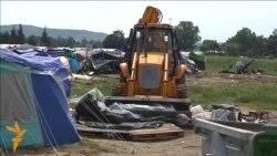 Булдожери го чистат кампот кај Идомени
