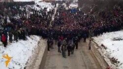 Protesti pokreta Samoopredeljenje, 22. januar 2012