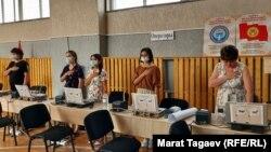 Выборы в местные кенеши. Бишкек, 11 июля 2021 г.