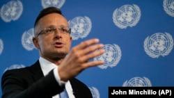 Министерот за надворешни работи на Унгарија, Петер Сијарто