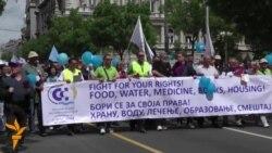 01 05 2015 Протести за 1 мај, попис во Грузија