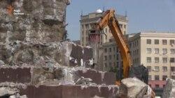 У Харкові демонтують постамент пам'ятника Леніну (відео)