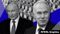 Володимир Путін (ліворуч) і Юрій Ковальчук, колаж