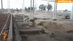 Тараздағы археологиялық қазбаларға ауыр техника қатысқан