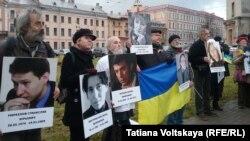 Участники Марша против ненависти в Санкт-Петербурге, 29 октября 2016 года