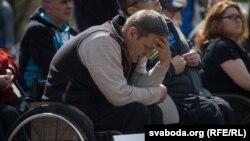 Мітынг інвалідаў-вазочнікаў у Менску