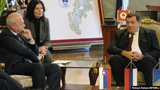 Ivan Gašparovič i Milorad Dodik