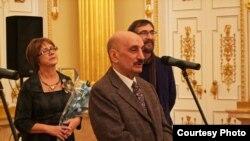 Сергей Григорьянц на открытии выставки в Царицынском дворце