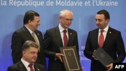 Од потпишувањето на Спогодбите меѓу ЕУ и Украина, Молдавија и Грзија, Брисел 27.06.2014.