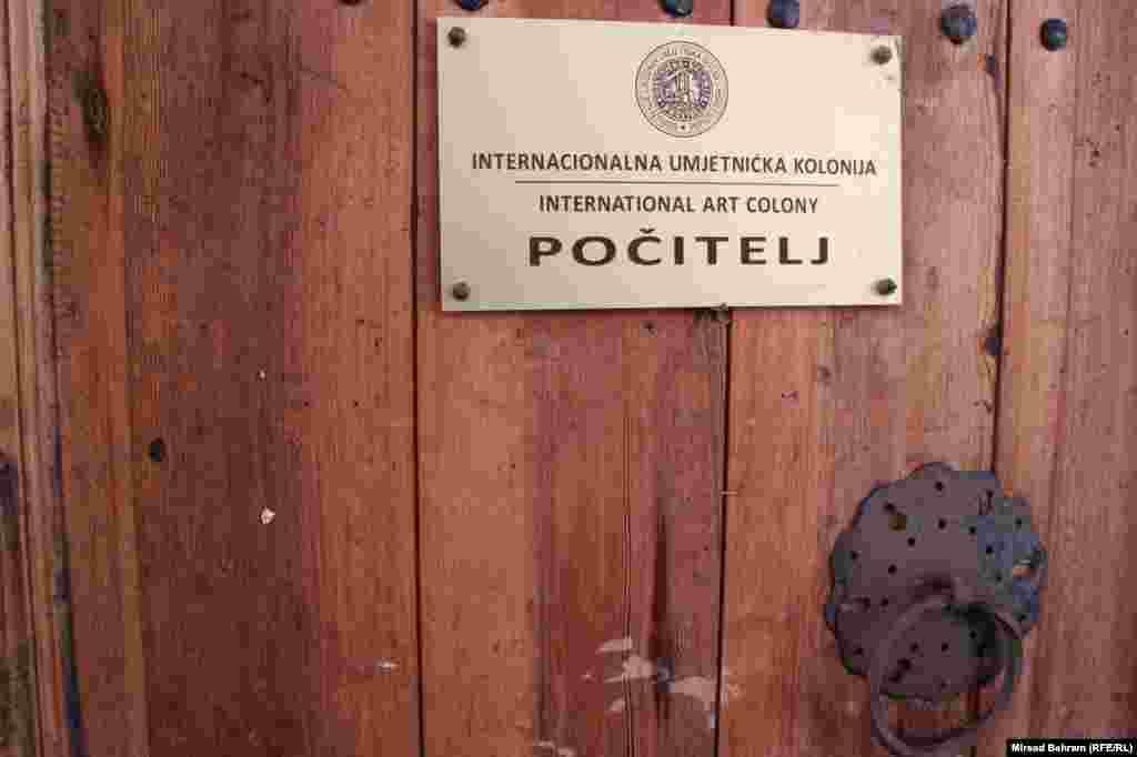 Bosnia-Herzegovina, A Table of International Art Colony in Pocitelj, Pocitelj 26Sep2014