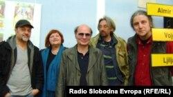 Učesnici festivala Almir Imširević, Ljiljana Dirjan, Vojo Šindolić, Nenad Veličković i Predrag Lucić u Užicu