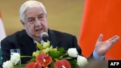 Сирия сыртқы істер министрі Валид әл-Муаллем.