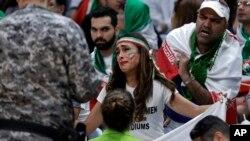 دریا صفائی،کنشگر ایرانی در جریان مسابقه والیبال ایران-مصر در ریو