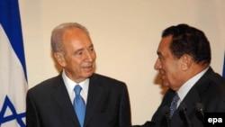 Шимон Перес и Хосни Мубарак, 23 окбятря 2008 г