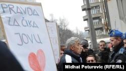 Акция протеста в Сараеве