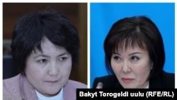 Гульшат Асылбаева и Айнура Осмонова