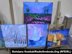Пейзажі, які намалювали ветерани АТО на уроках живопису