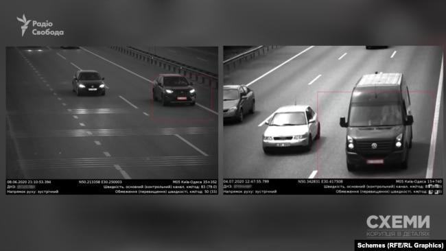 Обидва ці автомобілі були помічені влітку на трасі Київ-Одеса за допомогою системи відео-фіксації через порушення – перевищення швидкості