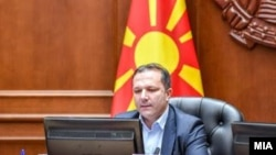Премиерот Оливер Спасовски на владина седница