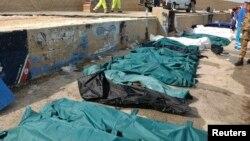 Իտալիա - Նավաբեկության հետևանքով զոհվածների մարմինները, Լամպեդուզա, 3-ը հոկտեմբերի, 2013թ․
