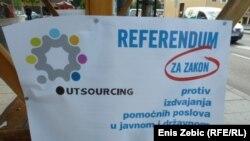 Plakat akcije, foto Enis Zebić