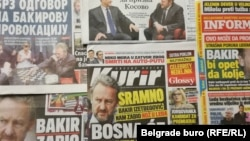 Naslovnice beogradskih medija sredinom novembera.