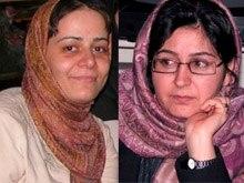 Iran - Mahbubeh Hosseinzadeh (L) and Nahid Keshavarz, Iranian women rights activist, Tehran, Undated