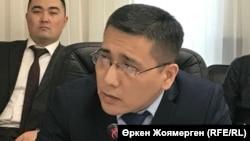 Елдос Нәшірәлі, ақпарат және коммуникация министрлігі БАҚ саласындағы мемлекеттік саясат департаментінің директоры. Астана, 15 желтоқсан 2017 жыл.