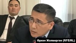 Елдос Наширали, директор департамента государственной политики в области средств массовой информации министерства информации и коммуникаций Казахстана. Астана, 15 декабря 2017 года.