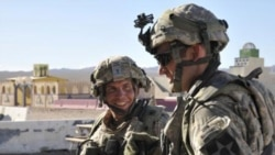 Sergeant Robert Bales (left) during an exercise at the National Training Center in Fort Irwin, California, in August 2011
