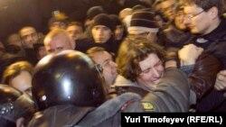 Одна из акций протеста в против итогов выборов в Москве