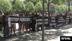 Під час акції протесту, Белград, 17 липня 2017 року