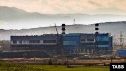 Строящаяся Симферопольская ТЭС, архивное фото