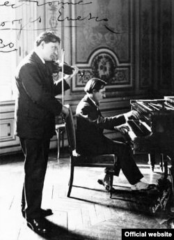 Cei doi prieteni ai săi: George Enescu și Alfred Cortot (Foto: Bibliothèque nationale de France)