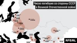 Советтер Союзунун жоготуусу (картаны басып чоңойтуп көрүңүз)