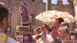 Սահմանամերձ գյուղի կիսավեր եկեղեցում առաջին անգամ պատարագ մատուցվեց