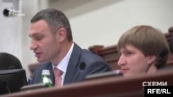Міський голова Києва Віталій Кличко (л) та заступник мера Володимир Бондаренко