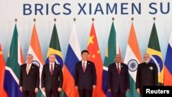BRICS Leaders Group Photo At The Start Of The Summit in Xiamen, China