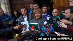 "Maia Manolova, președinta noului partid ""Ridică-te, Bulgaria!"" (foto arhiva)"