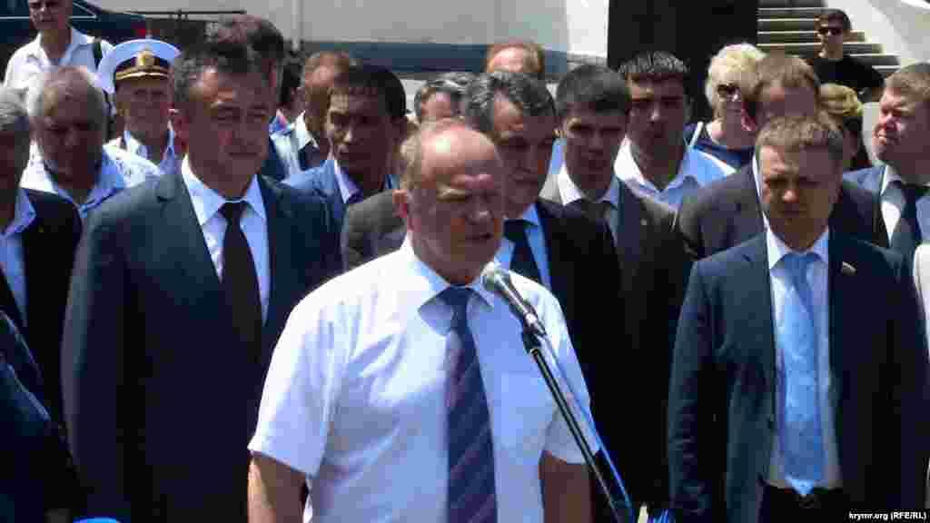 В Севастополе при участии Зюганова открыли закладной камень на месте памятника Потемкину, 3 июня 2015 года