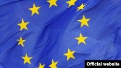 Ilustrim me flamurin e Bashkimit Evropian