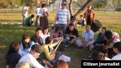 Казахстанские студенты, обучающиеся в Турции.