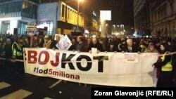 """Sa 60. protesta """"Jedan od pet miliona"""" u Beogradu 25. januara"""