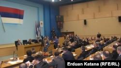 Narodna skupština RS tokom sjednice na kojoj bi trebalo da bude imenovana nova vlada ovog bh. entiteta, 12. mart 2013.