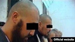 Задержанные по обвинению в терроризме. Фото с сайта КНБ.