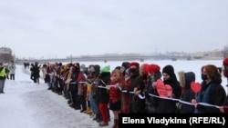 Цепь солидарности с политзаключенными. Петербург, 14.02 2021 года.
