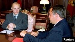 Владимир Путин и Михаил Лесин